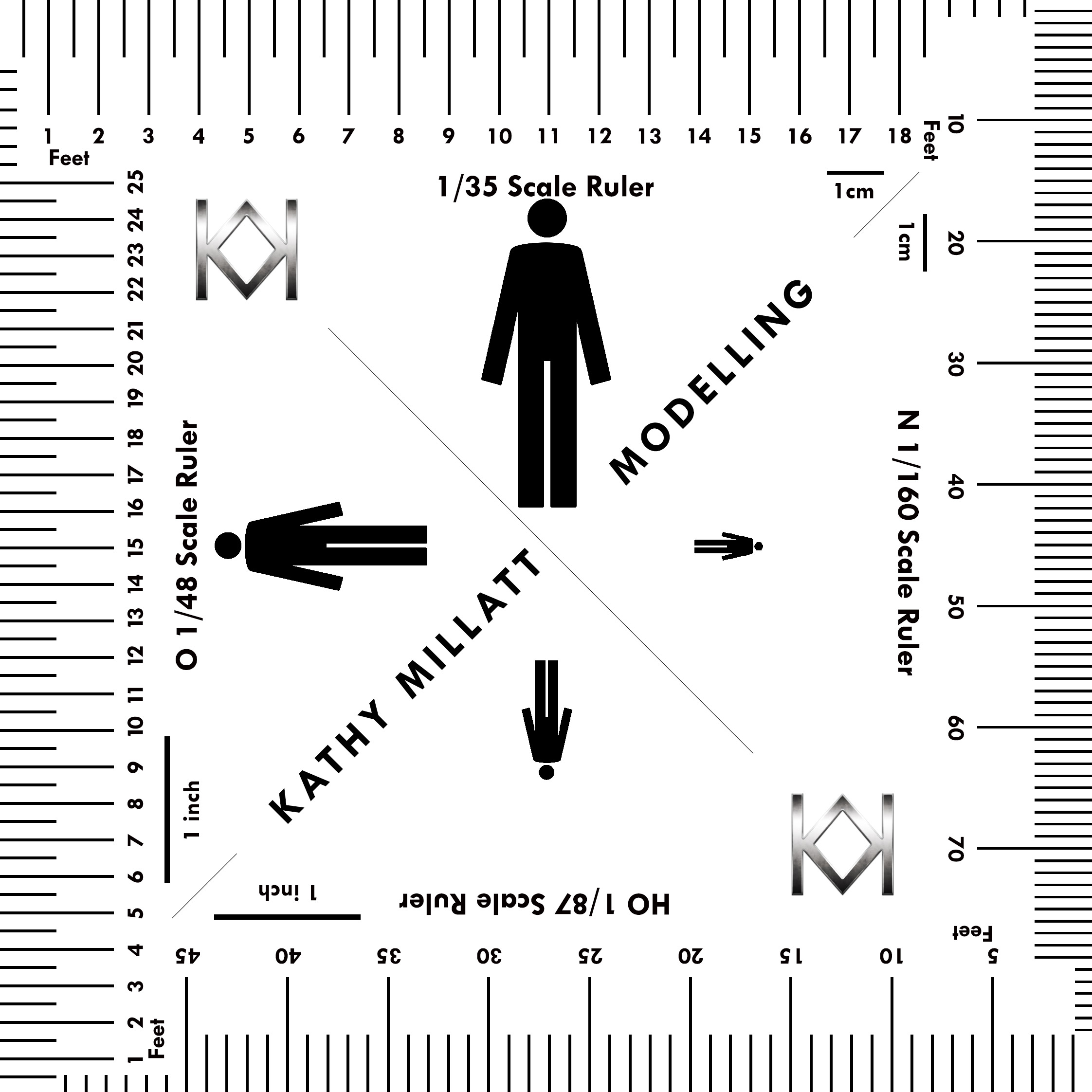 Modelling Water: Scale Ruler - man